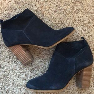 Navy Blue ankle booties